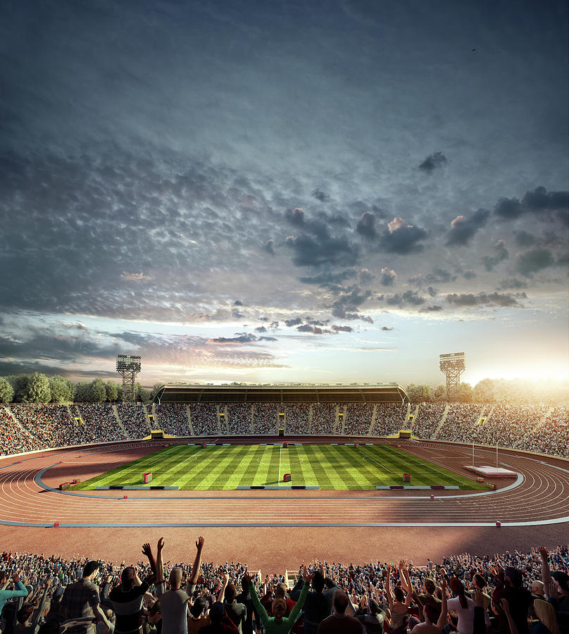 Dramatic . Stadium With Running Tracks Photograph by Dmytro Aksonov