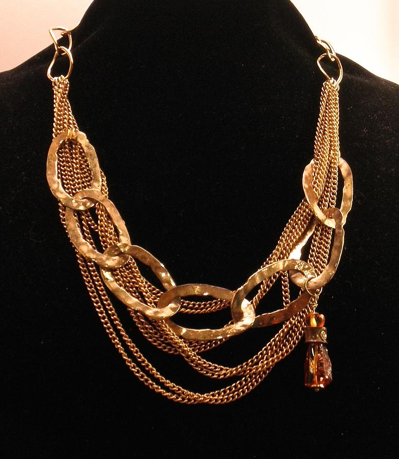 Dramatic Chain Link Necklace by Outre Art  Natalie Eisen