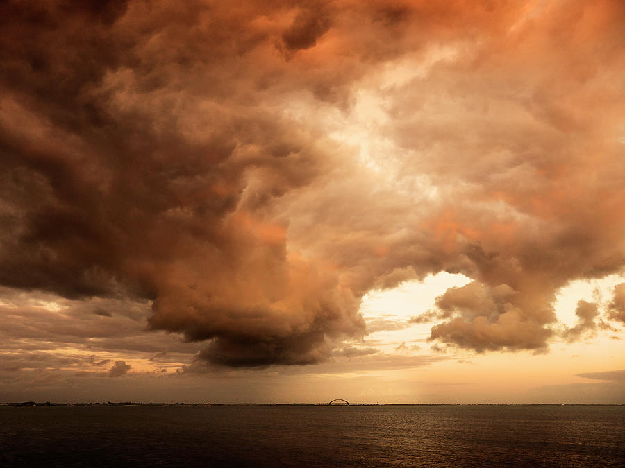 Dramatic Clouds Over Seascape Photograph by Bernd Schunack