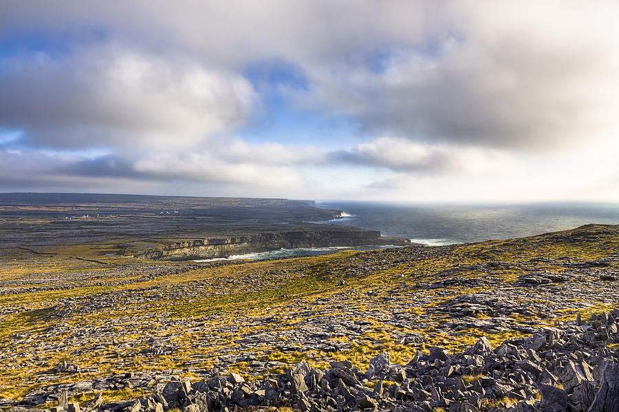 Galway Photograph - Dramatic Landscape Of The Aran Islands by Mark Tisdale