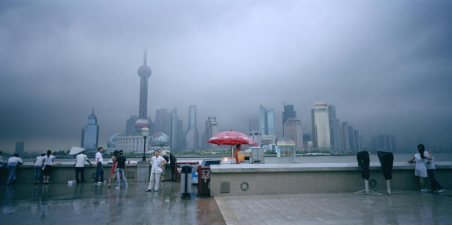 Shanghai Skyline Photograph - Dramatic Shanghai by Shaun Higson