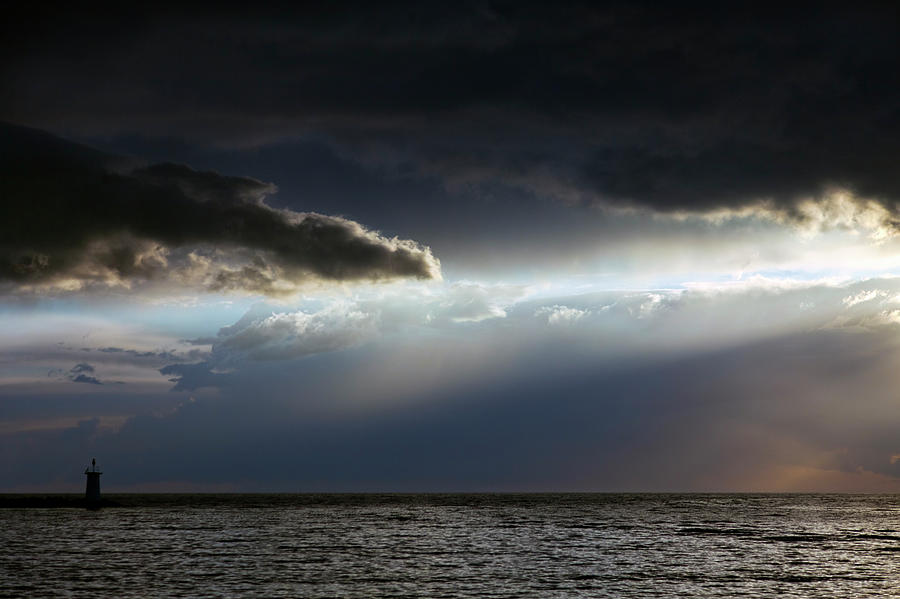 Dramatic Sky At Sea Photograph by Piranka