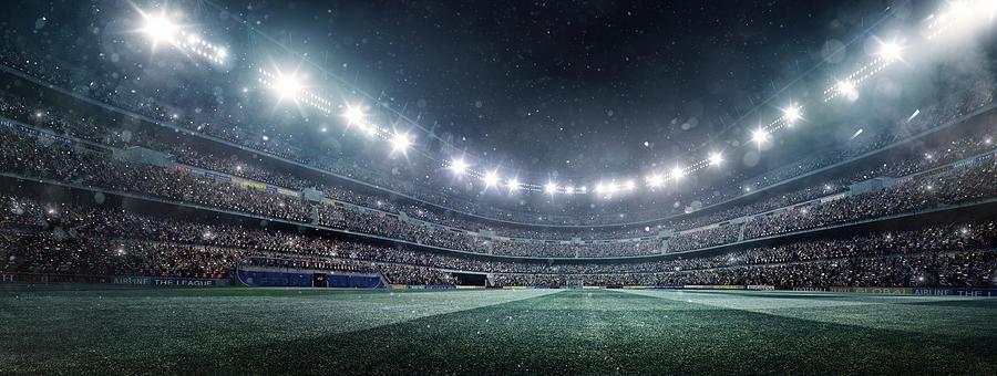 Dramatic Soccer Stadium Panorama Photograph by Dmytro Aksonov