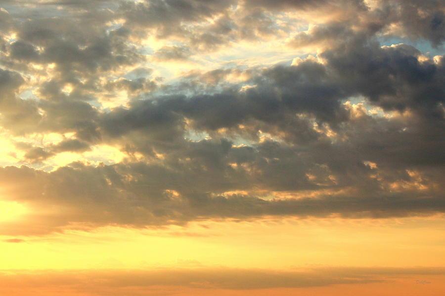 Clouds Photograph - Dramatic Sunglow by Deborah  Crew-Johnson