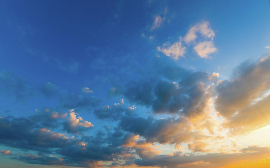 Dramatic Sunset Sky Photograph by Primeimages