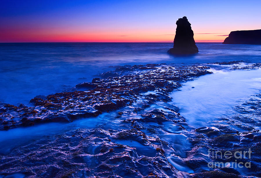 Davenport Photograph - Dramatic Sunset View Of A Sea Stack In Davenport Beach Santa Cruz. by Jamie Pham