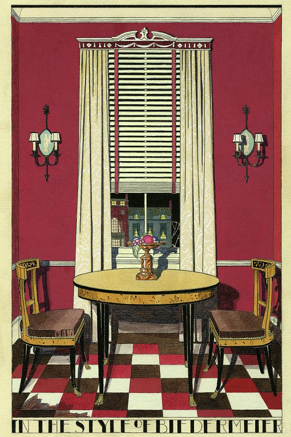 Dining Room Digital Art - Drawing Of A Breakfast Room by Harry Richardson