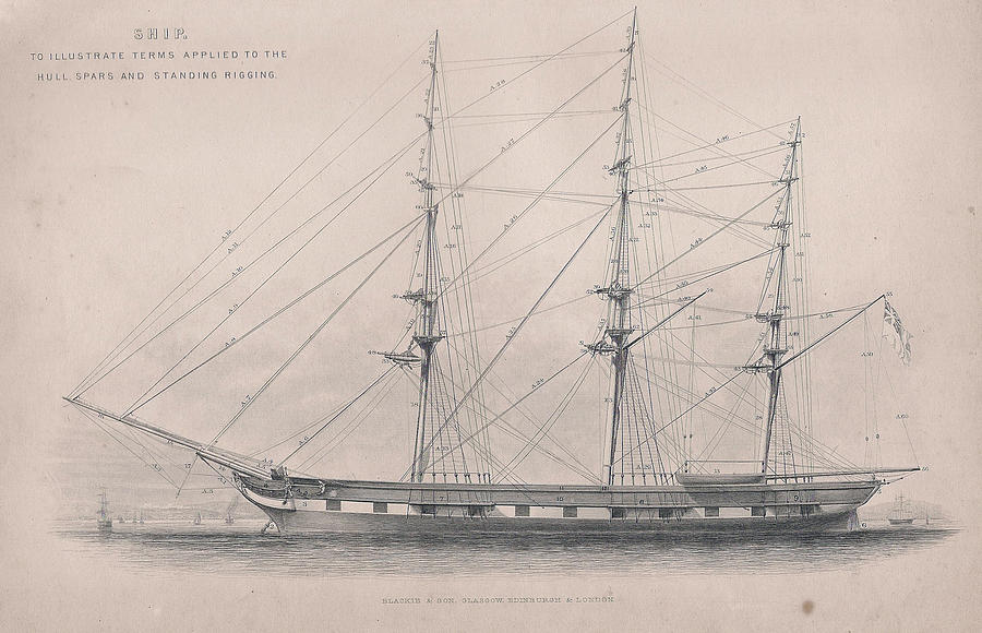 Wooden Ship Drawings