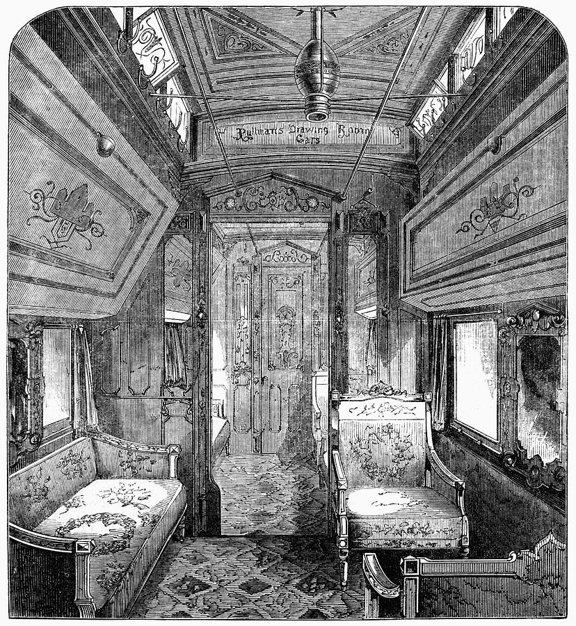 1869 Painting - Drawing-room Car, 1869 by Granger