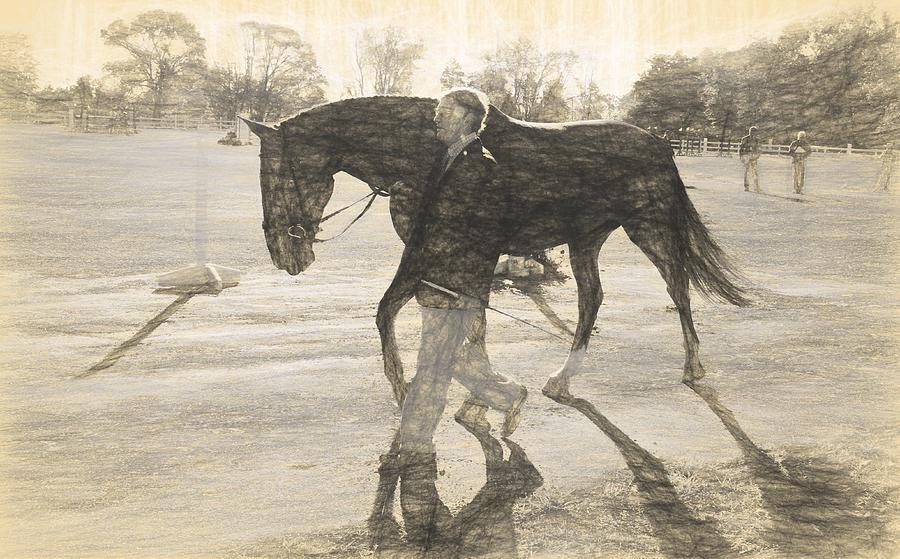 Fairhill International Photograph - Drawn Walking by Alice Gipson