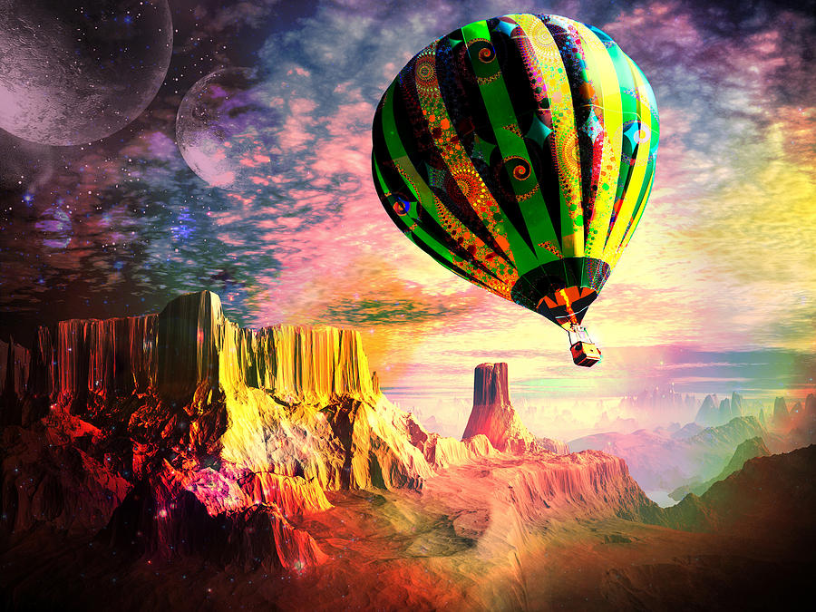 Balloon Digital Art - Dream And All Things Will Be Possible by Spinning Angel