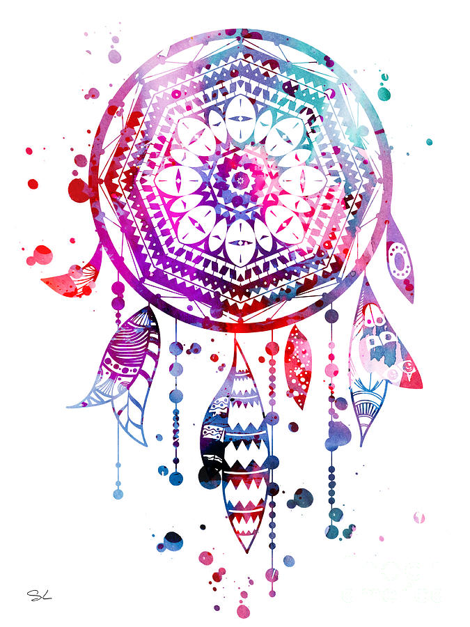 Dream Catcher Painting By Watercolor Girl