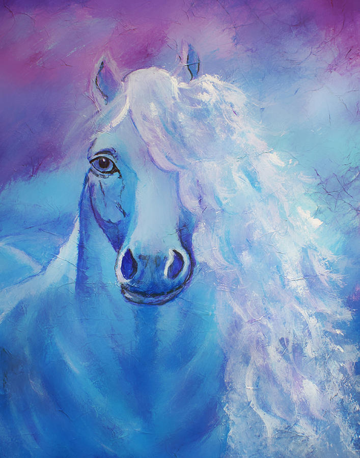 Horse Painting - Dream Catcher by The Art With A Heart By Charlotte Phillips