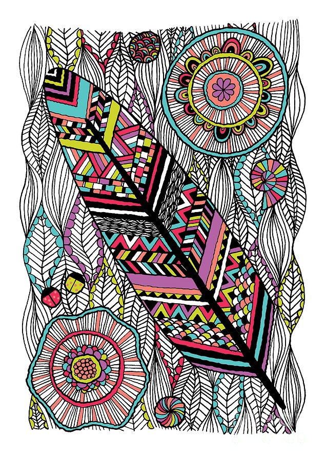 Navajo Digital Art - Dream Feather by Susan Claire
