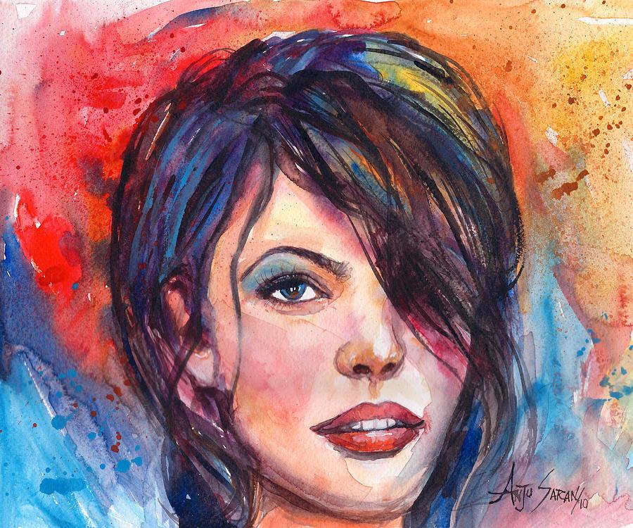Figure Painting - Dream Girl by Anju Saran