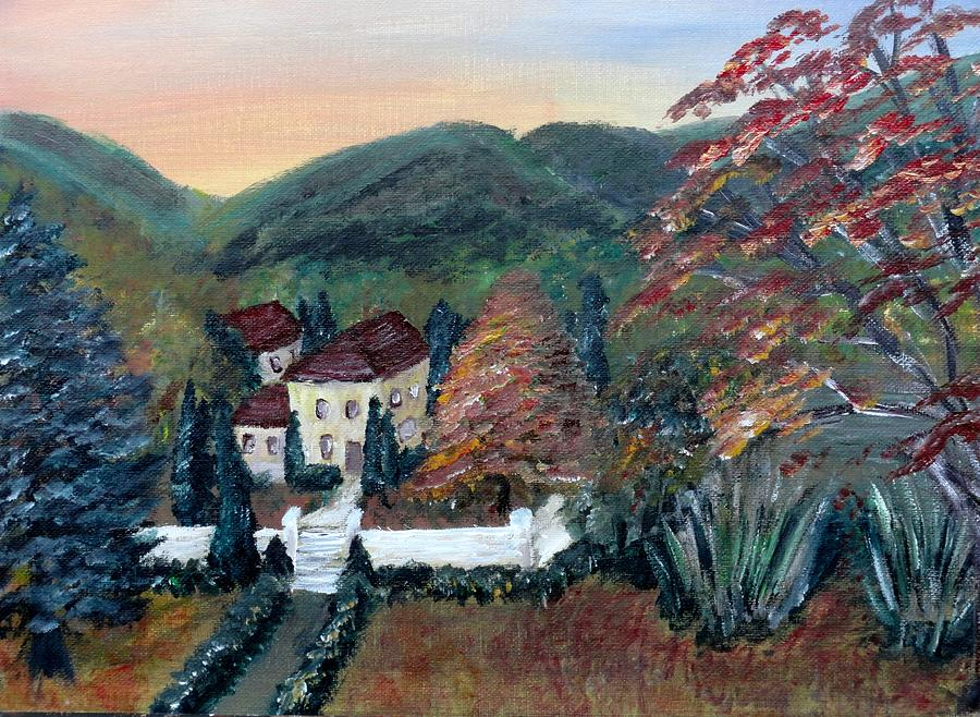Landscape Painting - Dream House by Corina Lupascu
