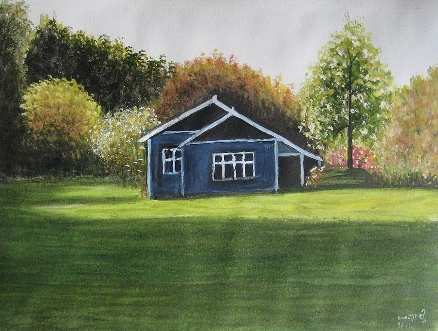 Landscape Painting - Dream House by Usha Rai