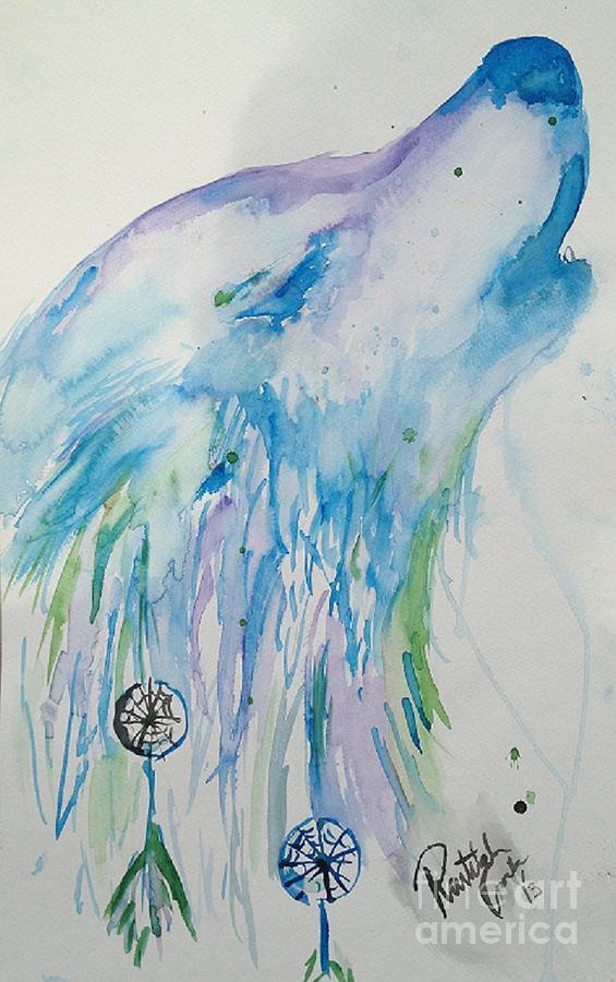 Wolf Painting - Dream Howl by Raitchele Cornett