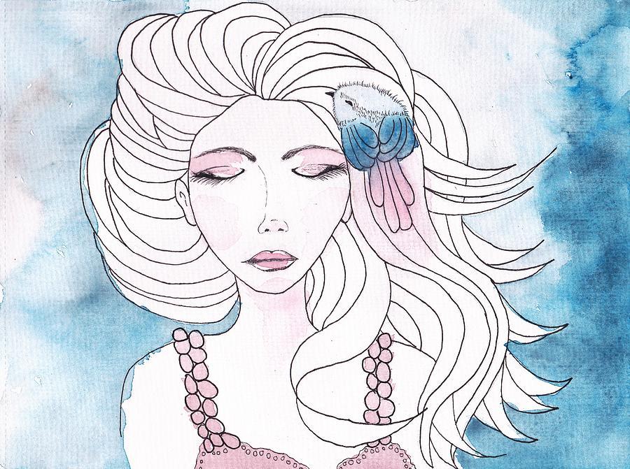 Lady Painting - Dream It by Amanda Mitchell