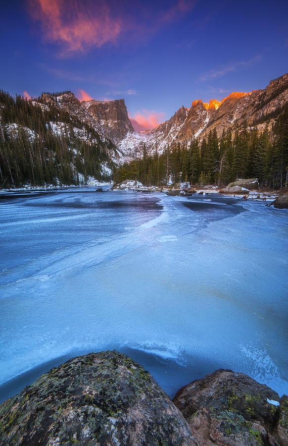 Dream Lake Blues Photograph