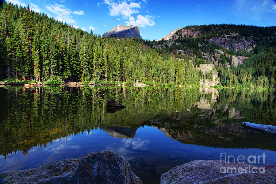 Dream Lake Photograph - Dream Lake Rocky Mountain National Park by Wayne Moran