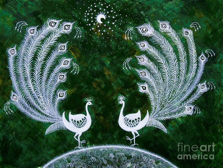Tree Painting - Dream Land by Anjali Vaidya