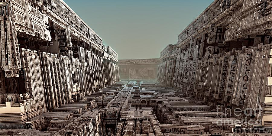 Digital Digital Art - Dream Of A City 2 by Bernard MICHEL