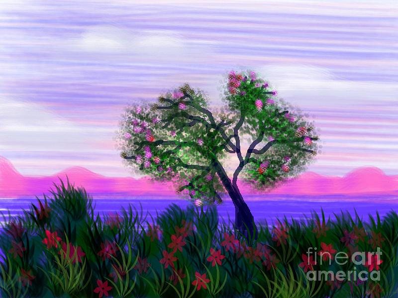 Landscape Painting - Dream Of Spring by Judy Via-Wolff