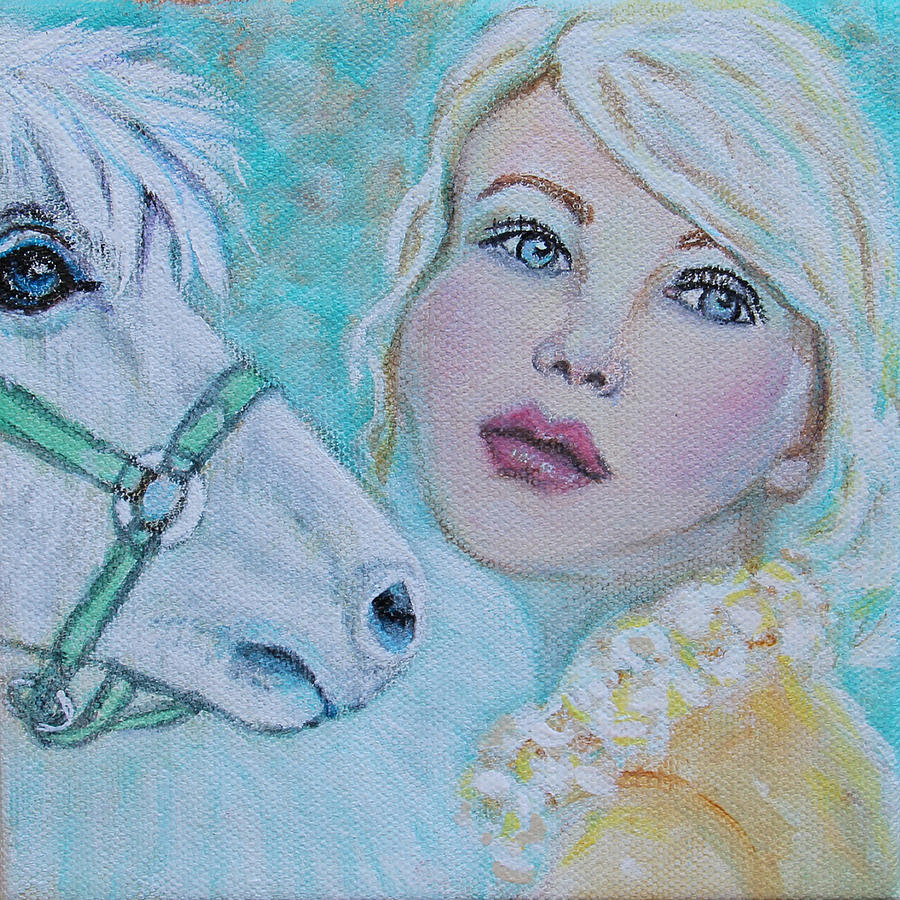 Horse Painting - Dream On Dreamer by The Art With A Heart By Charlotte Phillips
