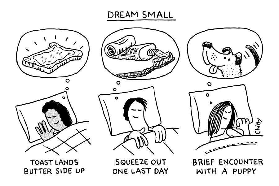 Dream Small Drawing by Tom Chitty