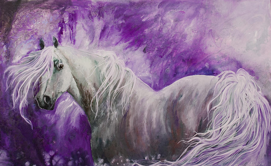 Horse Painting - Dream Stallion by Sherry Shipley