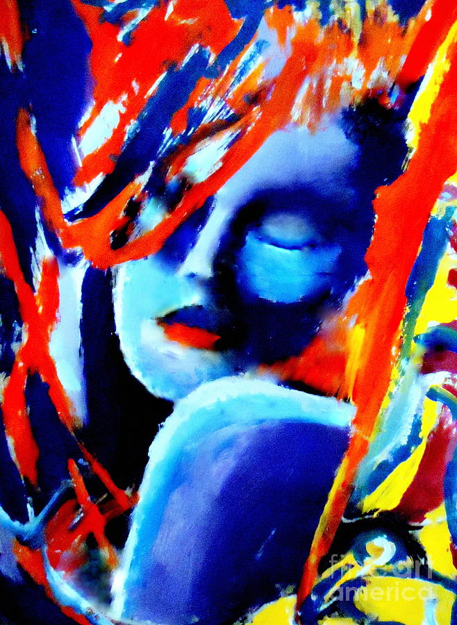 Abstract Nudes Painting - Dream Within A Dream by Helena Wierzbicki