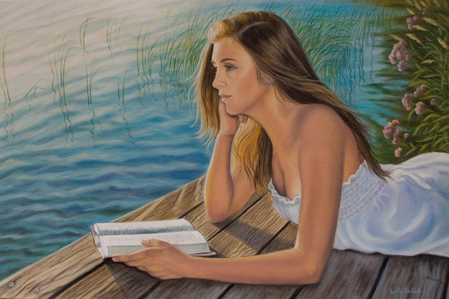 Realistic Painting - Dreamer by Holly Kallie