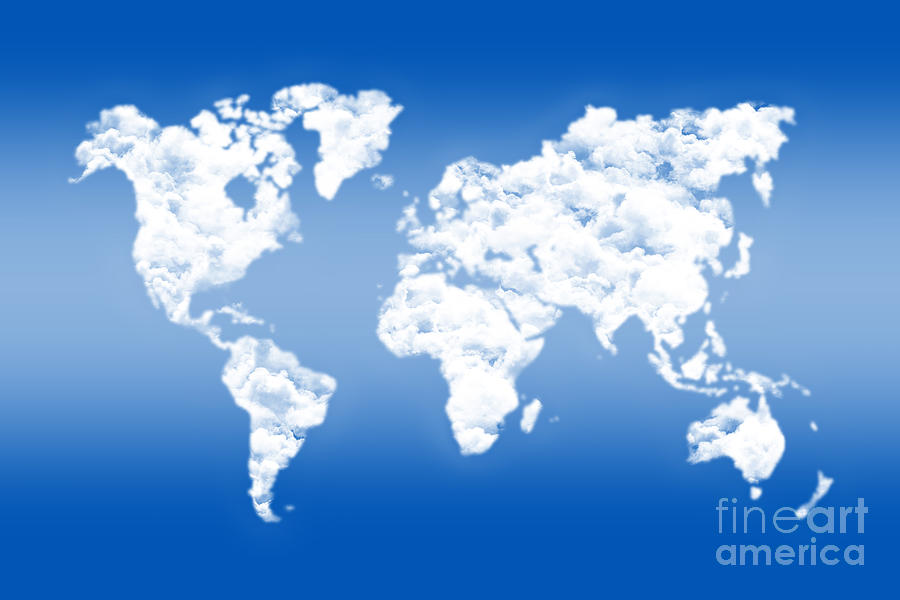 World Map Digital Art - Dreamer World Map by Delphimages Photo Creations