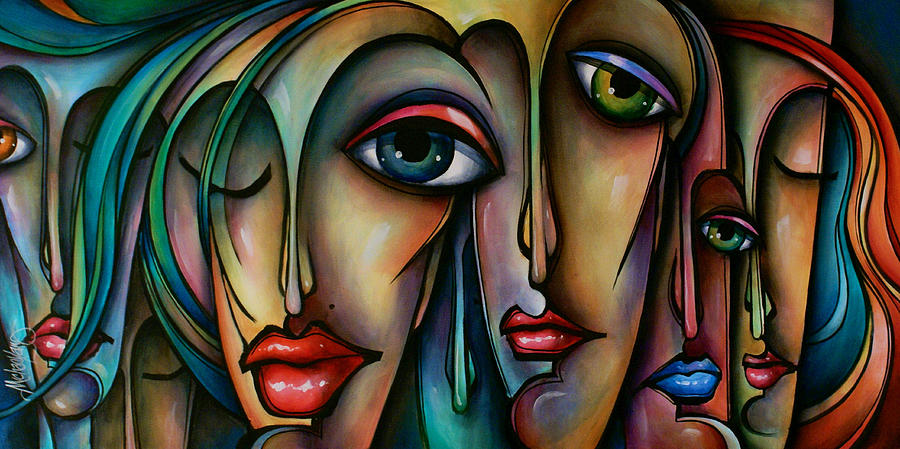 Figurative Painting - Dreamers  2 by Michael Lang