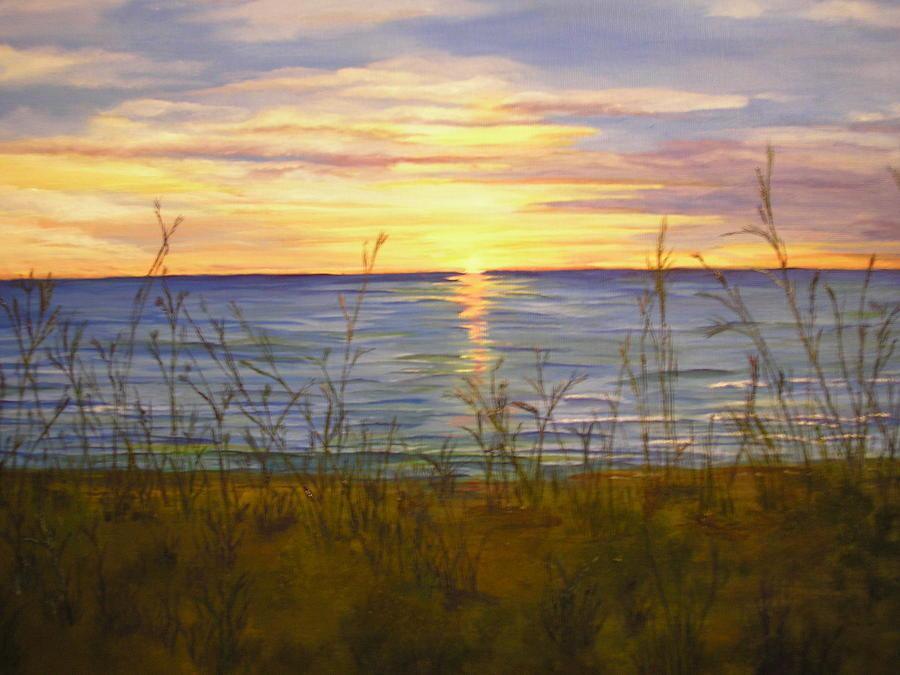 Sunrise Painting - Dreamers Sunrise by Cheryl Damschen