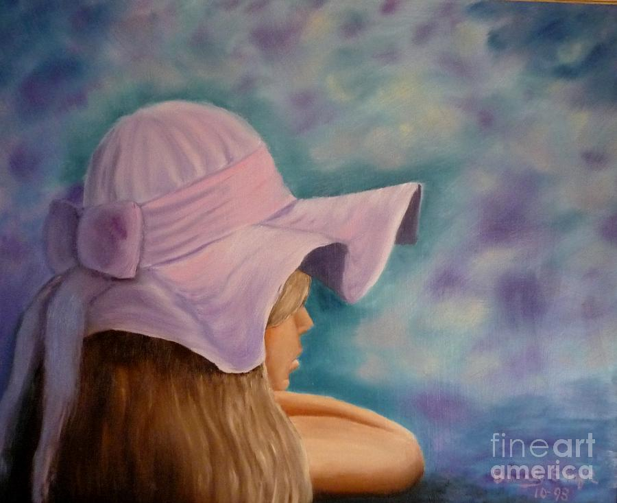Girl Painting - Dreaming by Beverly Hanni