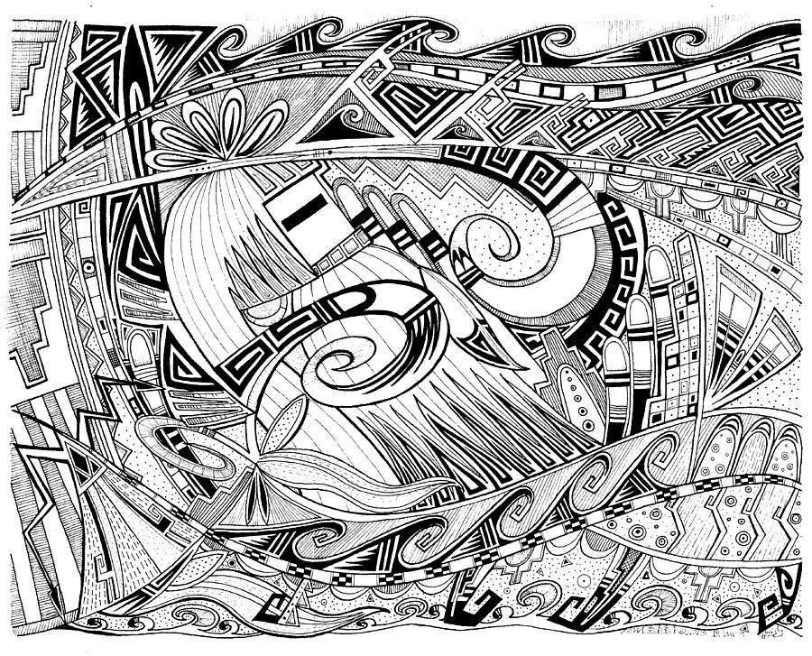 Dreaming In Hopi Mixed Media by Dalton James  Hopi Drawings