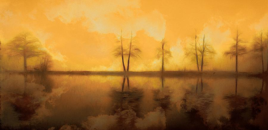 Landscape Painting - Dreaming Lake by Steve K
