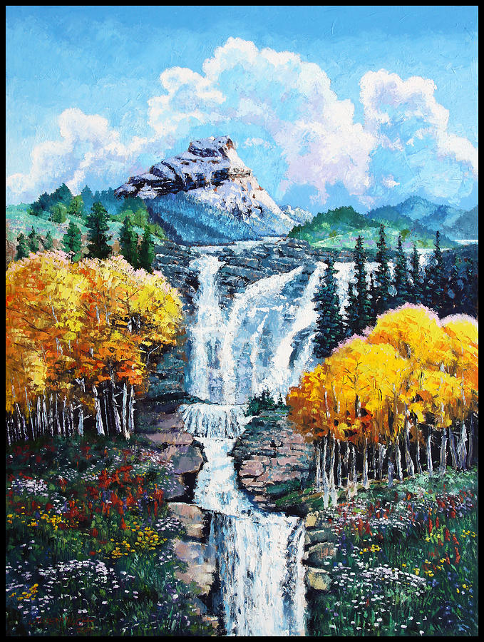Mountains Painting - Dreaming of Colorado by John Lautermilch