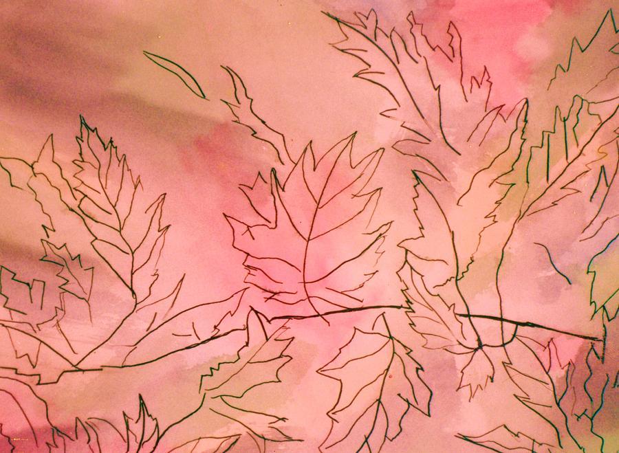 Leaves Mixed Media - Dreaming Of Leaves by Anne-Elizabeth Whiteway