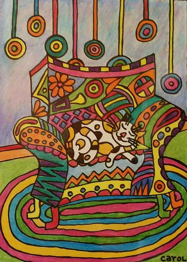 Colors Drawing - Dreaming Of Lollipops by Carol Hamby