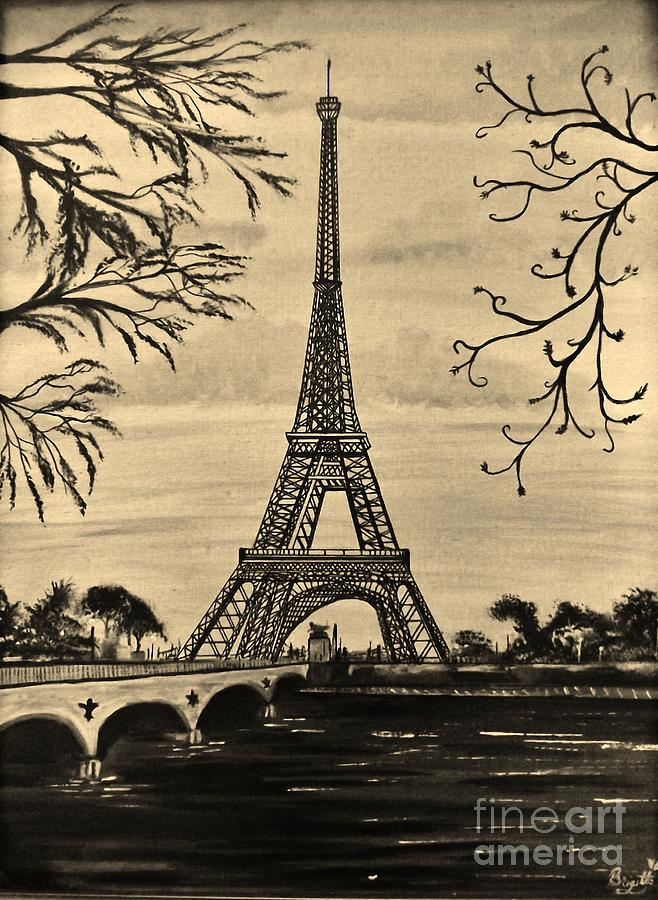 Paris Painting - Dreaming Of Paris 2 by Brigitte Emme