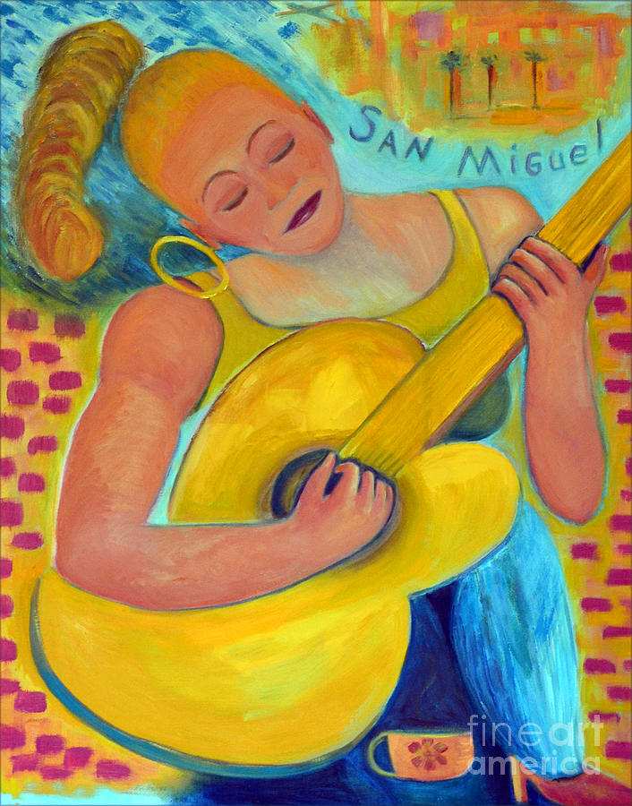 Oil Painting Painting - Dreaming Of San Miguel by Karen Francis