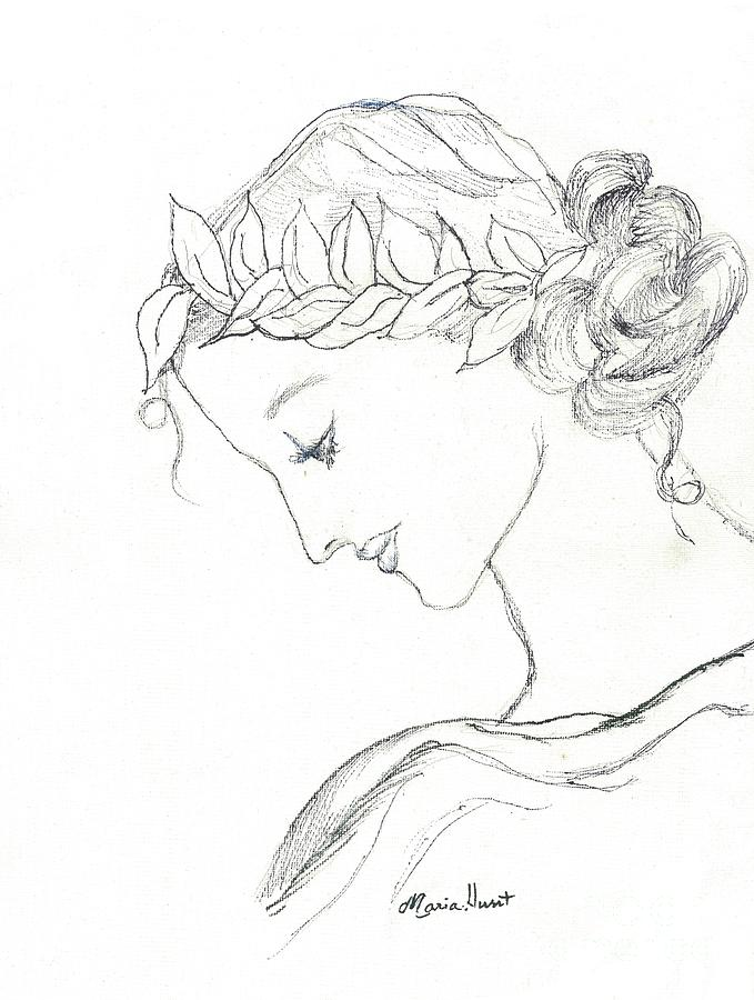 Muse Drawing - Dreaming Of The Dance by Maria Hunt