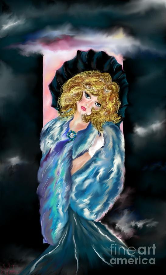 Lady Painting - Dreaming Of You by Lori  Lovetere