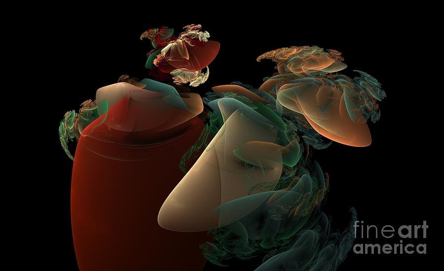 Peter R Nicholls Abstract Fine Artist Canada Digital Art - Dreaming by Peter R Nicholls
