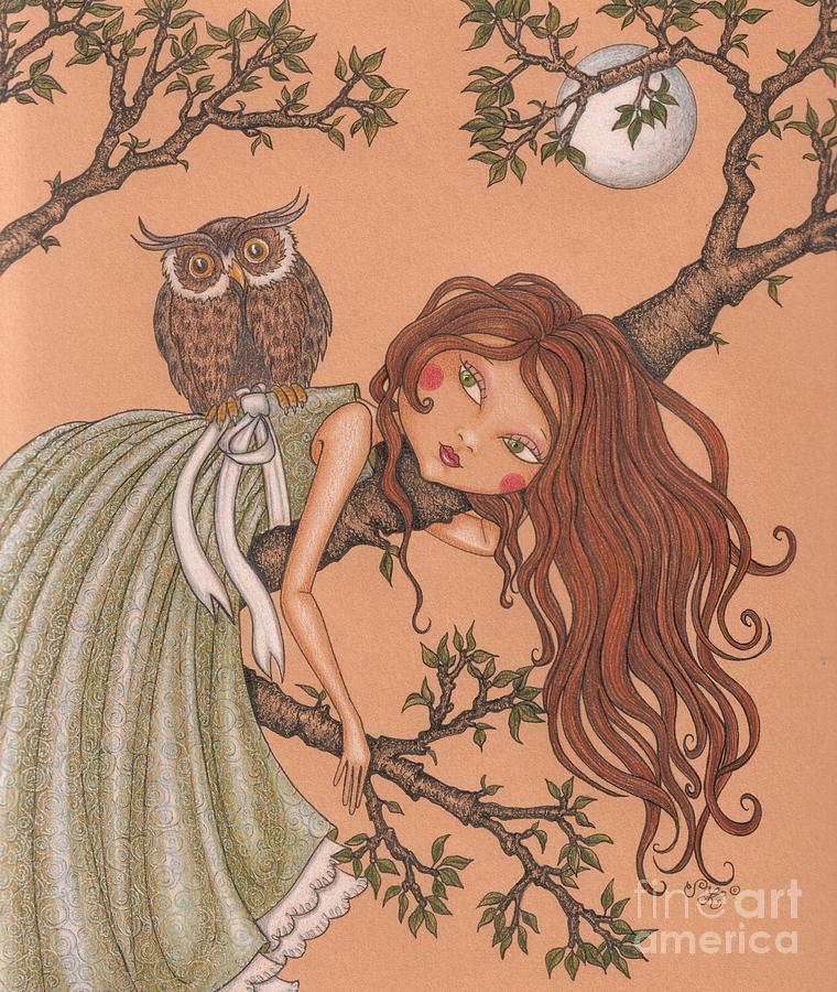 Illustration Drawing - Dreaming by Snezana Kragulj
