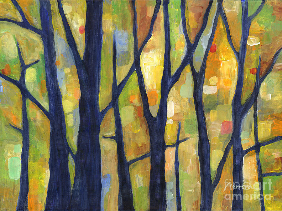 Dreaming Painting - Dreaming Trees 2 by Hailey E Herrera