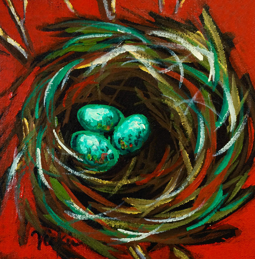 Nest Painting - Dreaming by Vickie Warner